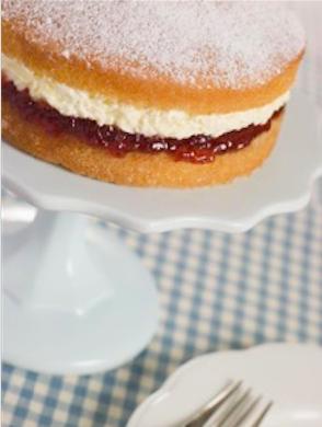 Classic sponge cake with jam