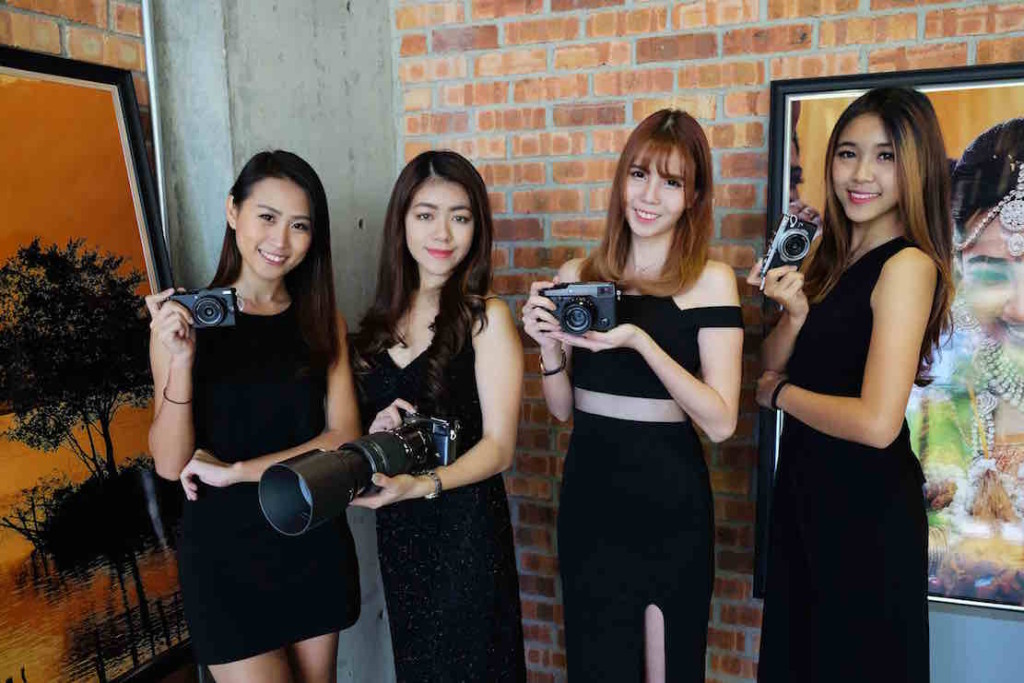 The product ambassadors of the FUJIFILM event