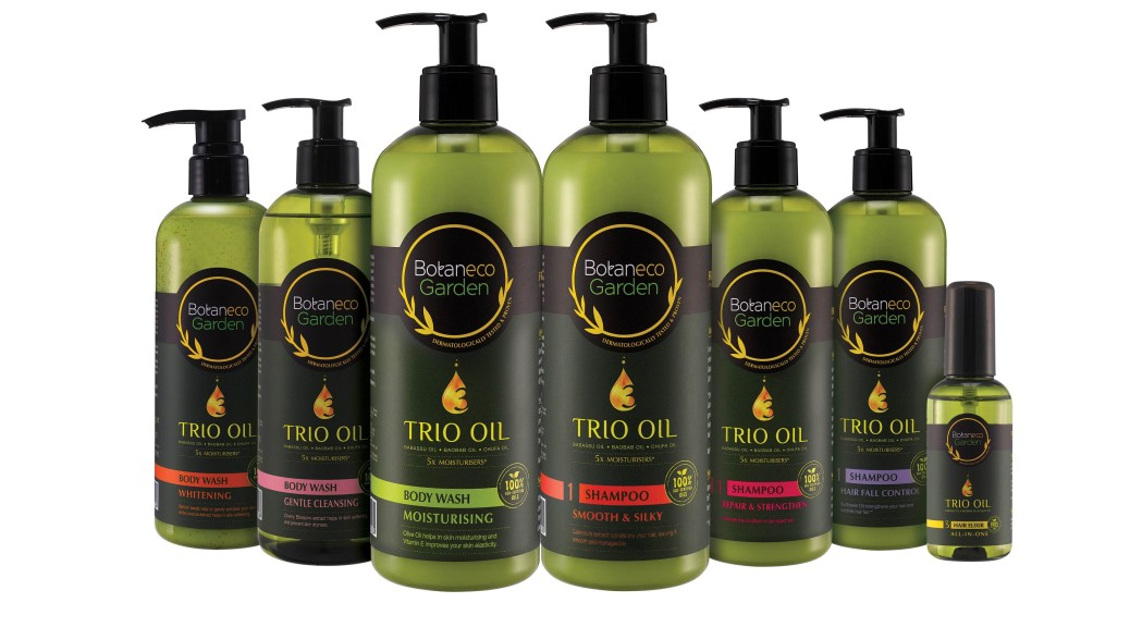 The Botaneco Garden Trio Oil Hair & Body range gets its name from the combination of three 100% eco-certified exotic oils that are the next wave in moisturising hair and skin care - Babassu Oil from Latin America, Baobab Oil from Africa and Chufa Oil from France