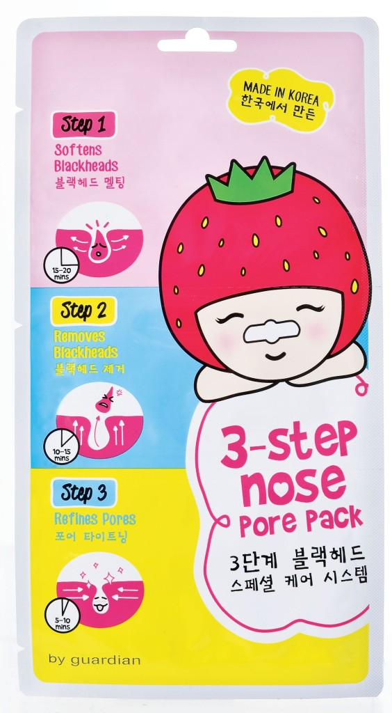 Having a clean nose is as easy as 1-2-3. Guardian 3-Step Nose Pore Pack features three steps to soften and remove white heads, blackheads, excessive sebum and impurities on the nose area effectively.