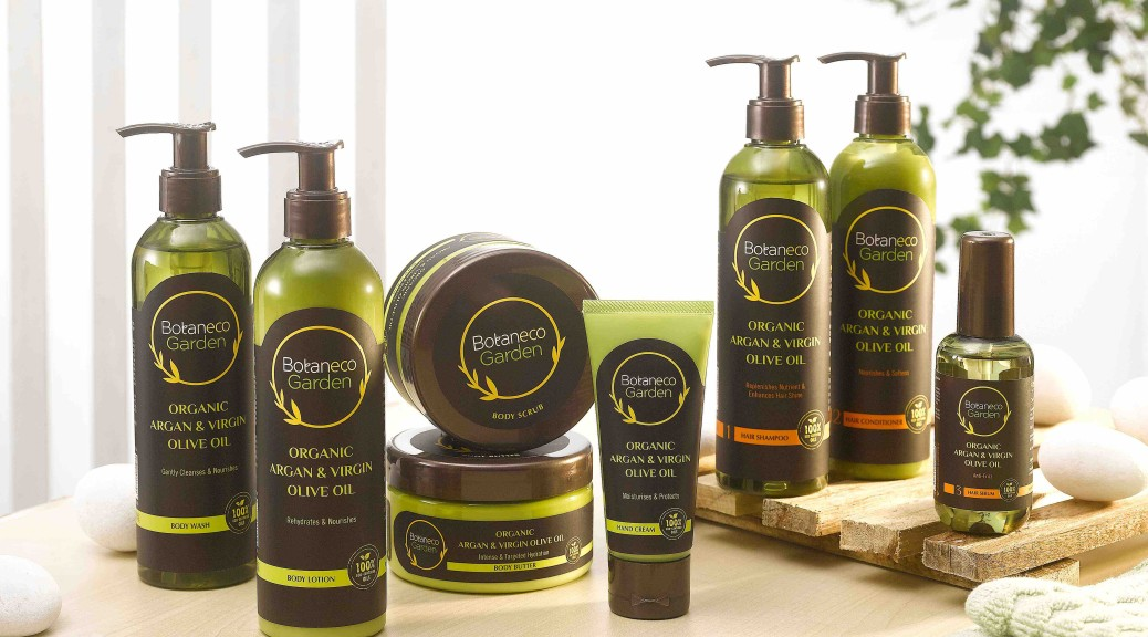 The Botaneco Garden Organic Argan and Virgin Olive Oil collection is free from  harmful chemicals  such as parabens, soap, artificial colorants, SLS and lanolin giving consumers who are health-conscious and environmentally-friendly, peace of mind