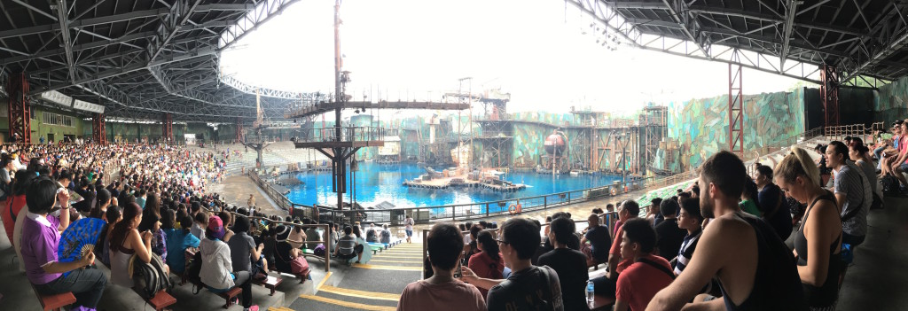 At the Waterworld stunt performance