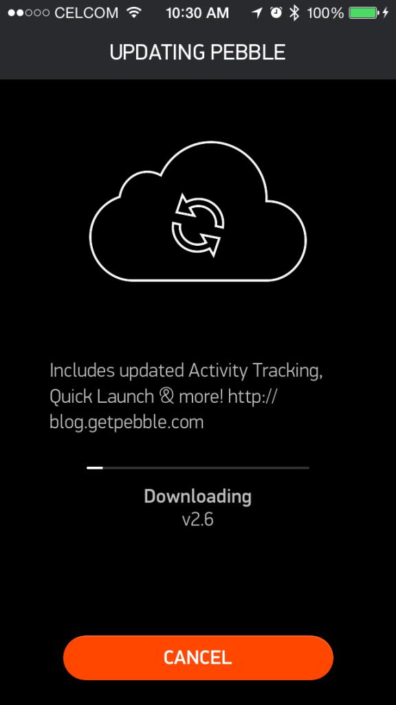 Pebble v2.6 update