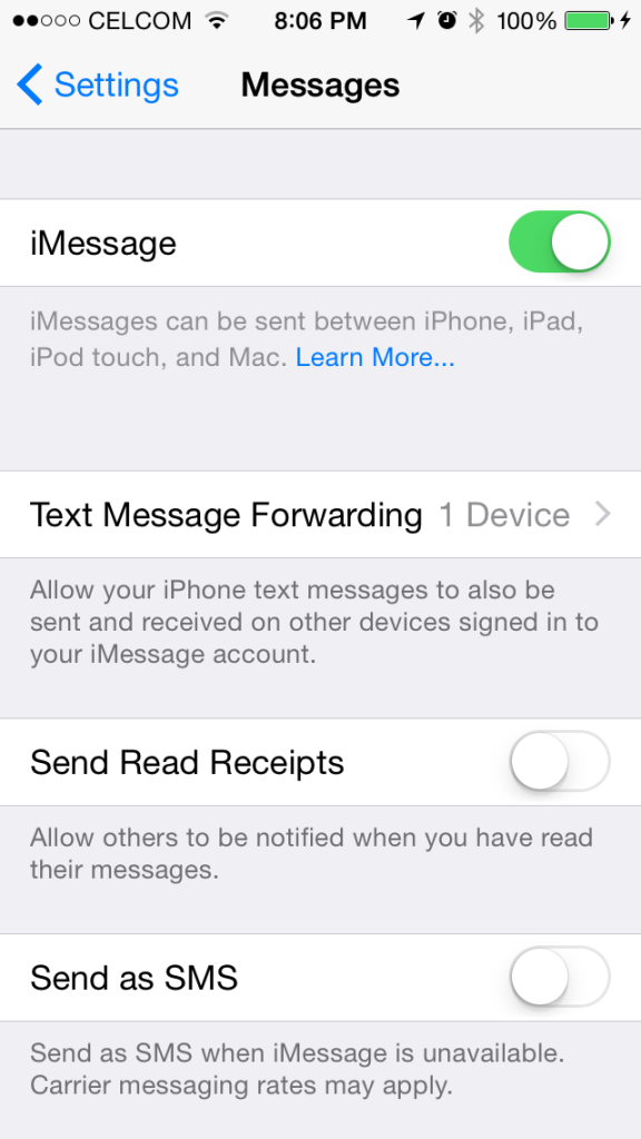 The text messaging forwarding between iOS devices & Yosemite is back.
