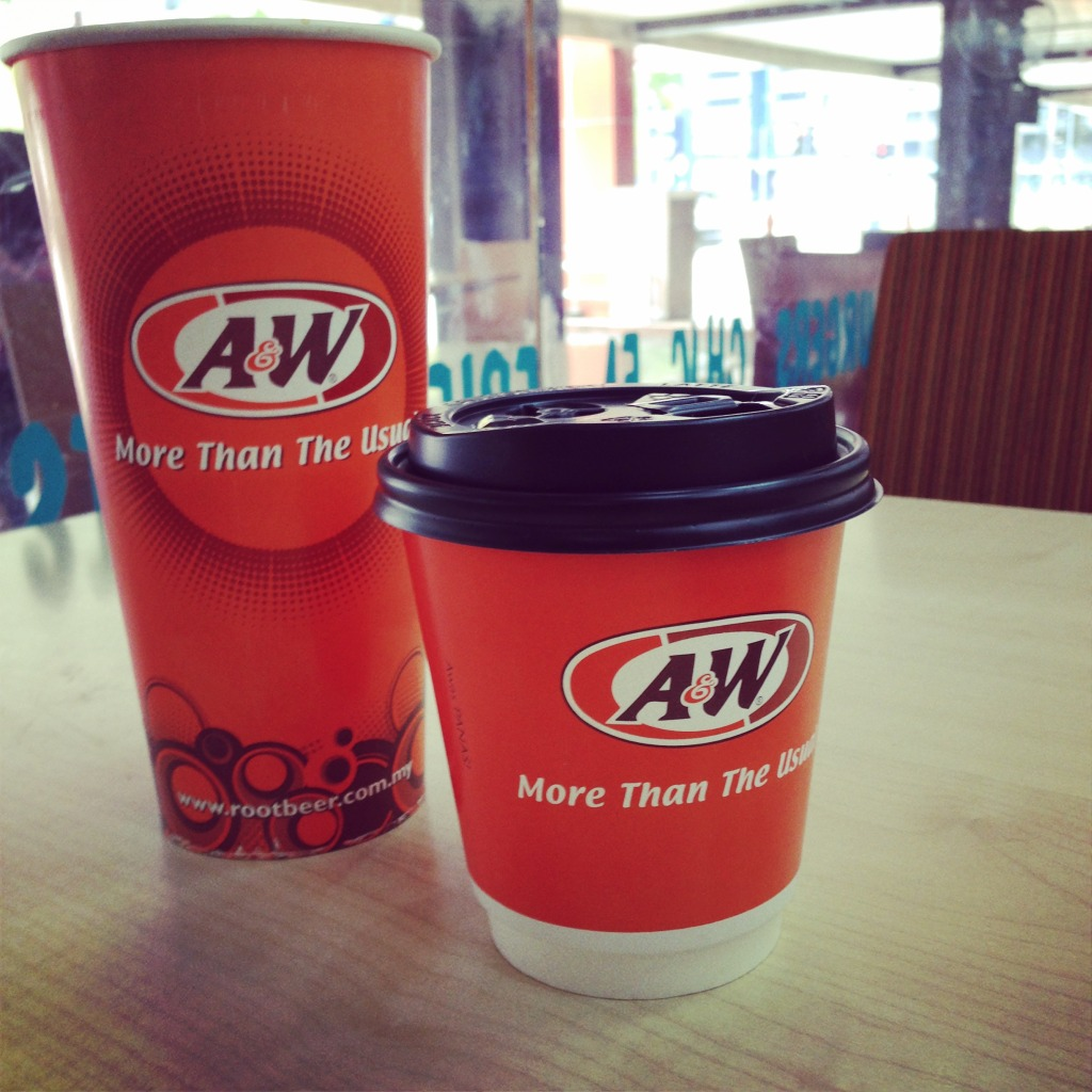 Ran of out signature A&W glass