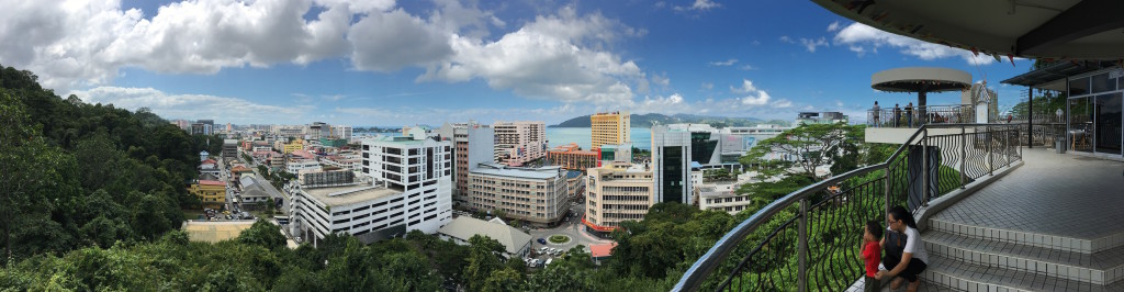 A view from Signal Hill Observation Tower in Kota Kinabalu.