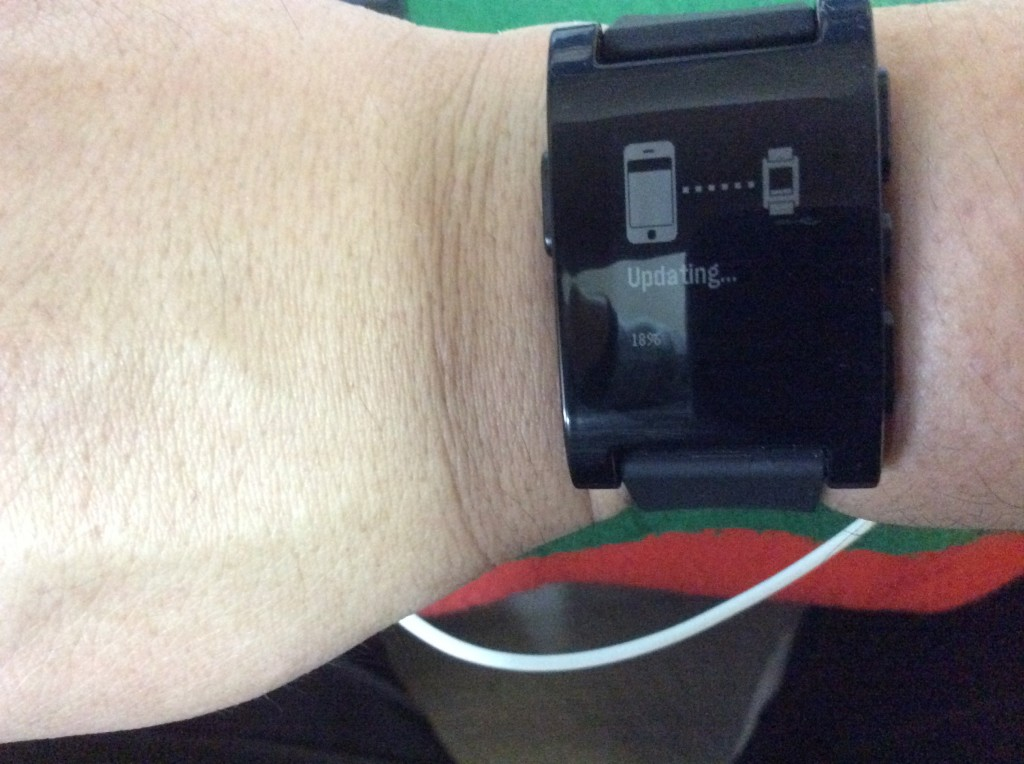 Updating Pebble firmware to version 2.0