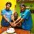 Retna & the twins, celebrating their birthday.