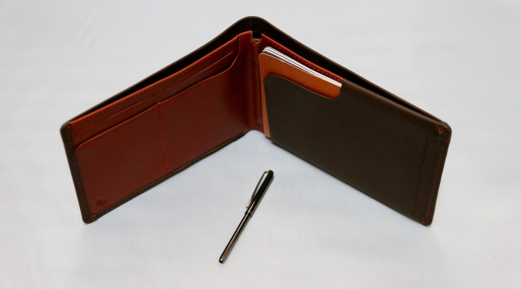 A tiny pen which slots in nicely into the wallet