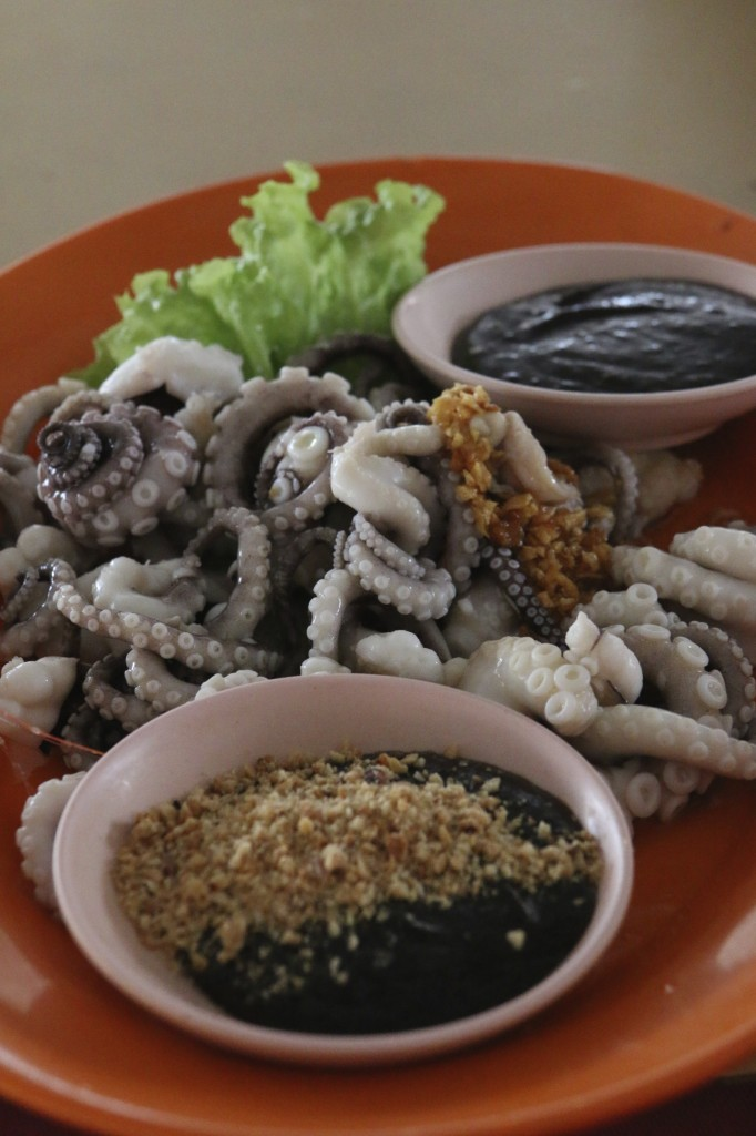 Steamed octopus