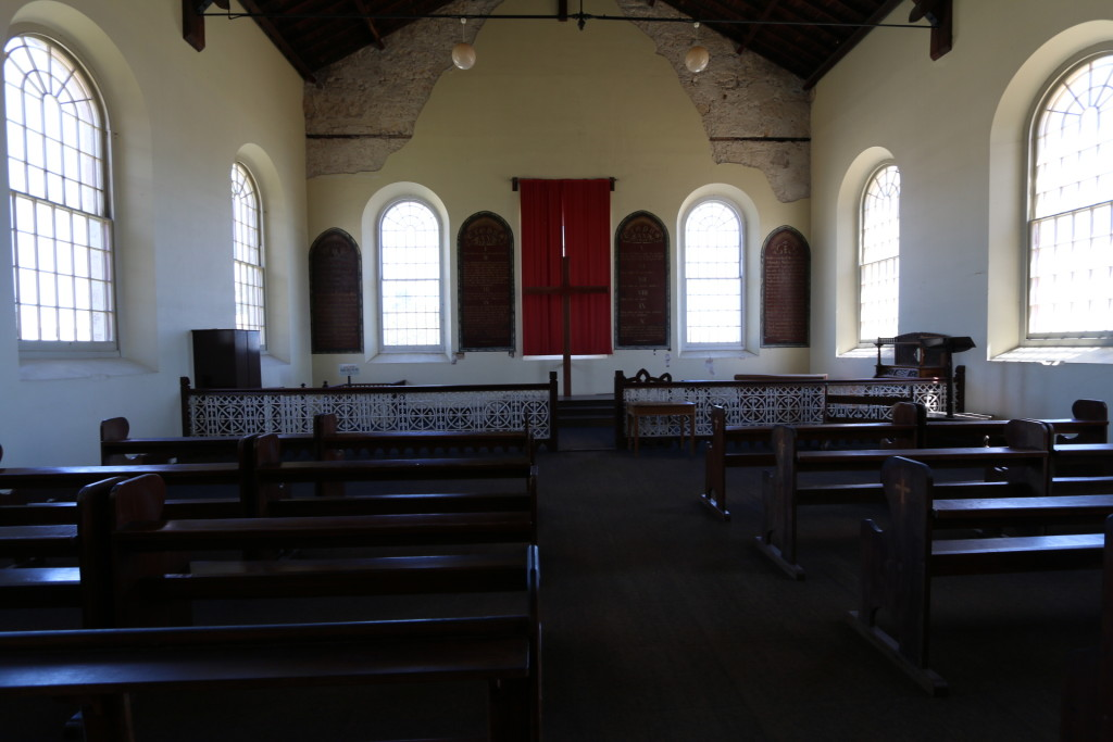A protestant chapel built by the British, which later another chapel for Catholic was built, since many convicts complained about attending the protestant service.