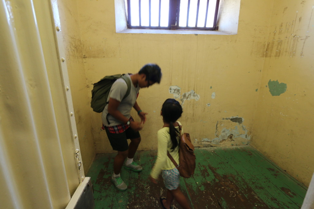 Both Ariel and Inez were insider one of the empty prison cell.