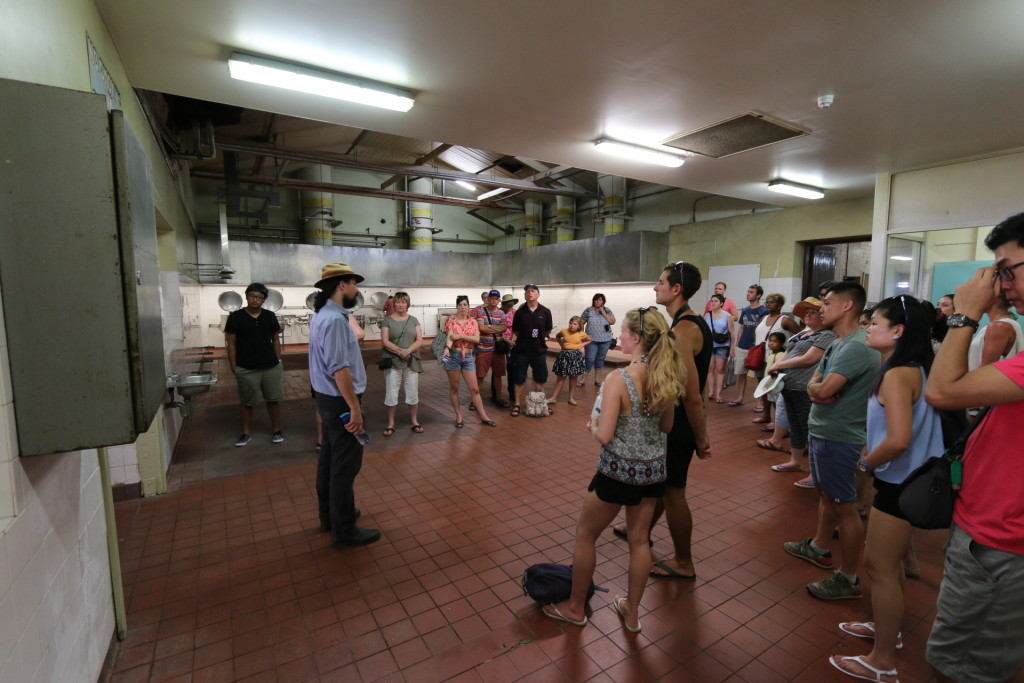 The dining hall and cooking area for the prisoners.  The place was operated by the prisoners.