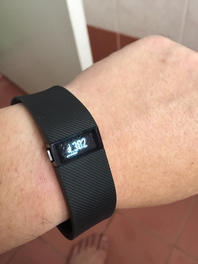 FitBit Chrage HR, with water