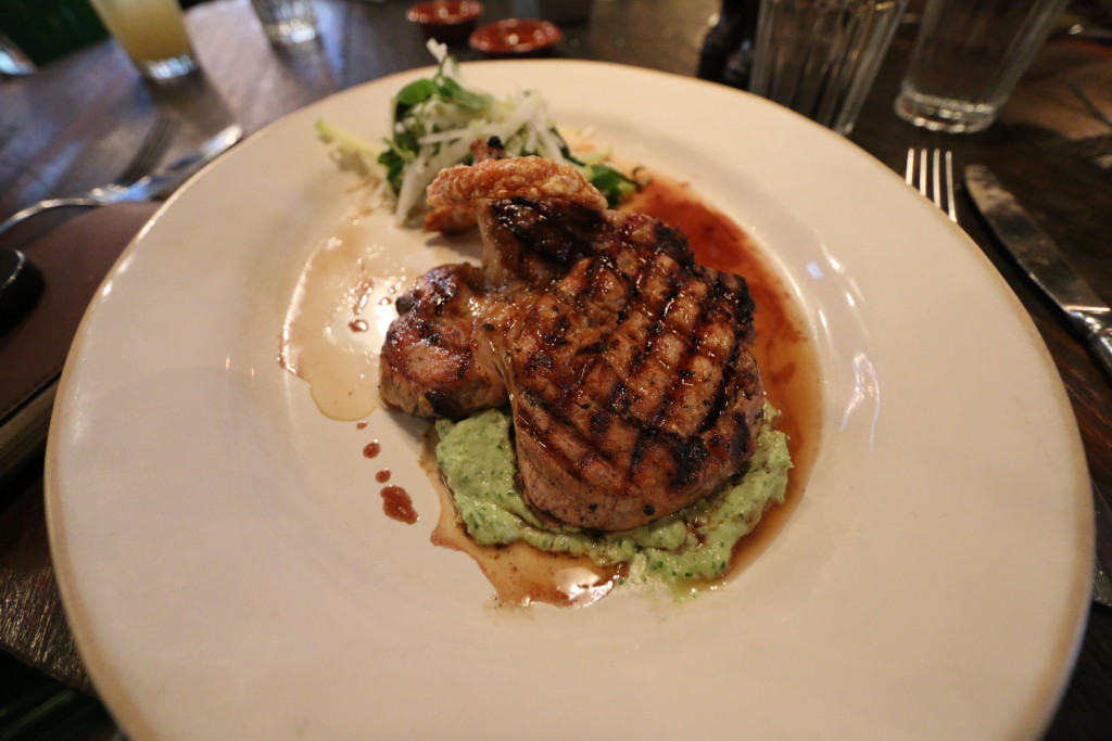 What I had, free range pork chop