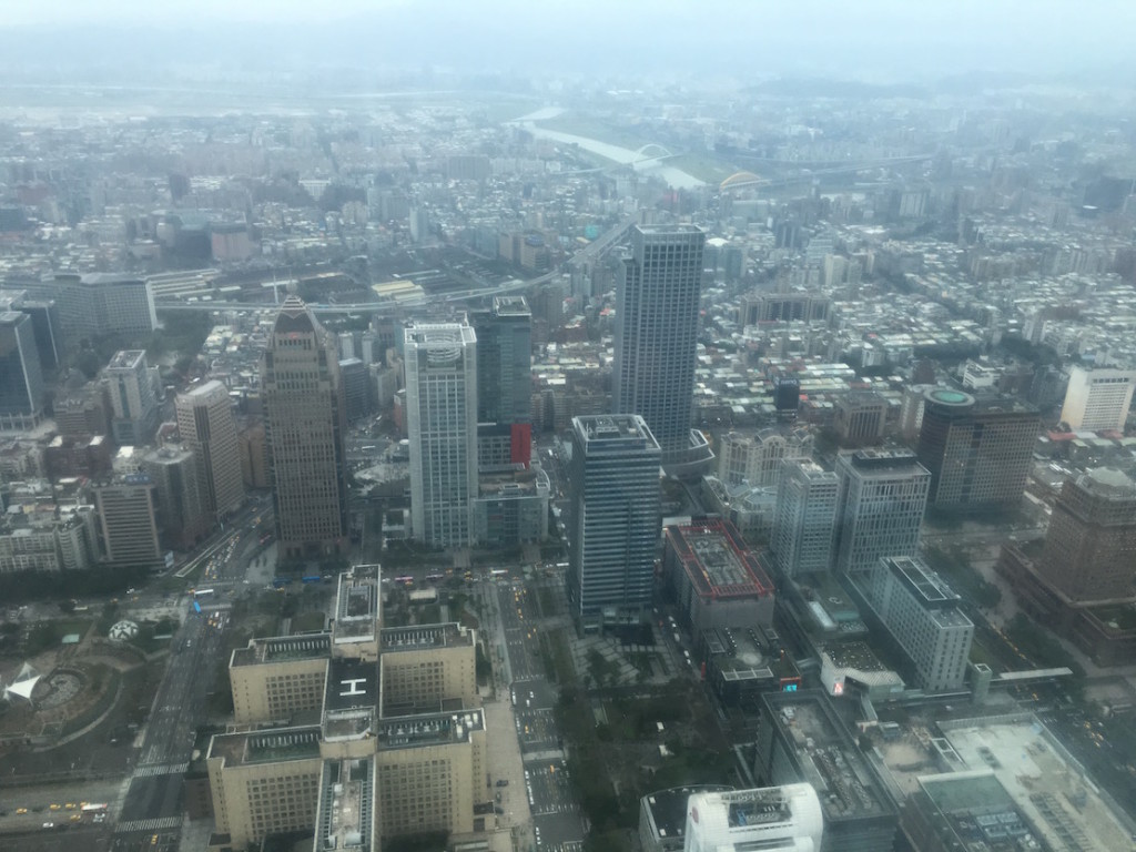 View from 85th floor of Taipei 101