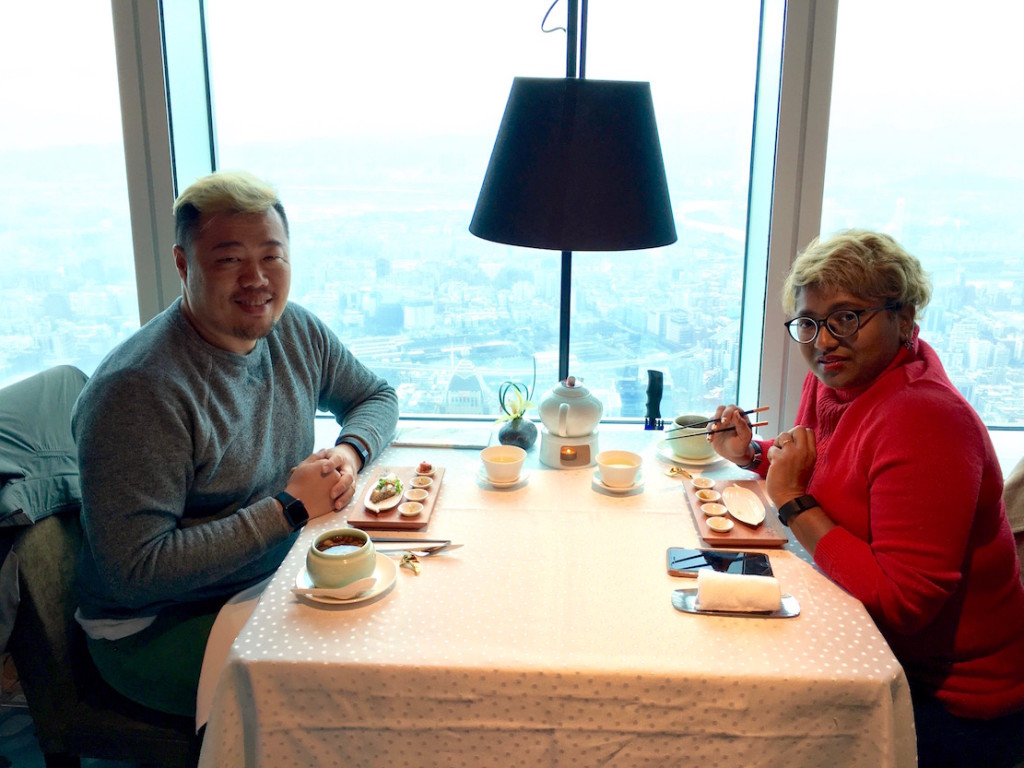 Both of us, dining the first time at Taipei 101