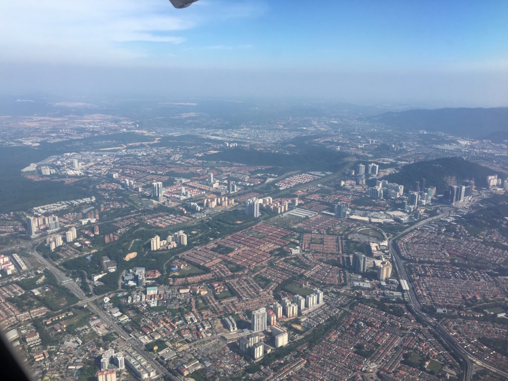 Busy development, packed city of Petaling Jaya