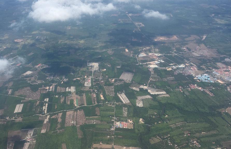 In contrast, so much space in between houses in Kelantan