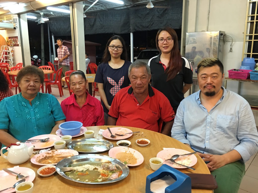Me, with my family members in Bukit Mertajam.  My uncles and aunties are my mother's siblings.