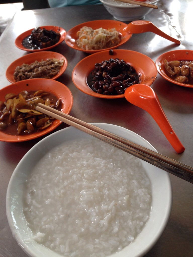 Simple Teo Chew porridge meal at Jalan Magazine.