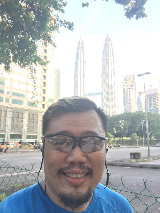 After a morning run at KLCC Park