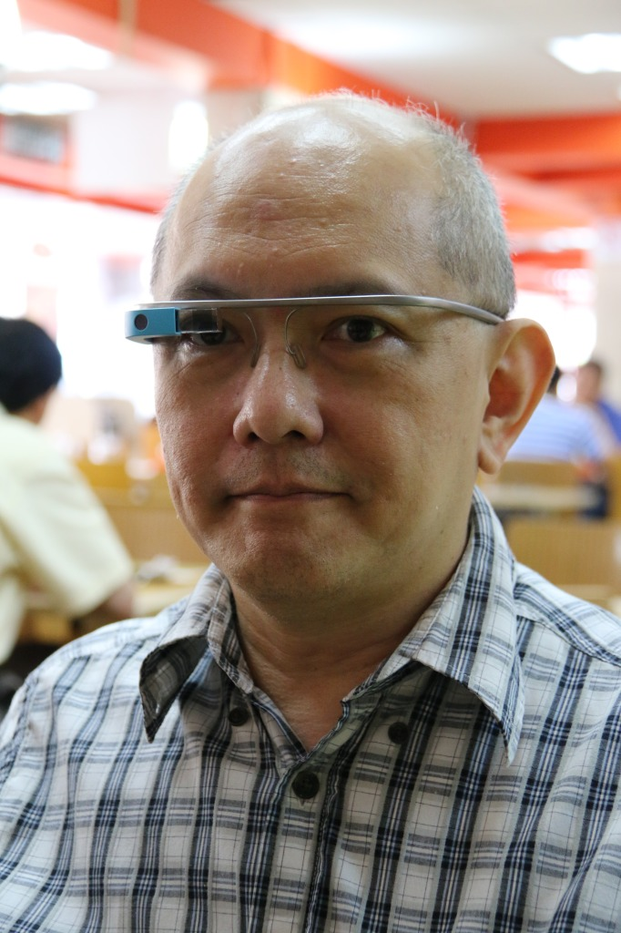 Alan, with the Google Glass.