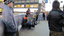 Street performance at Osaka, Japan.  How young people knows how to find and earn a living in a modern world.