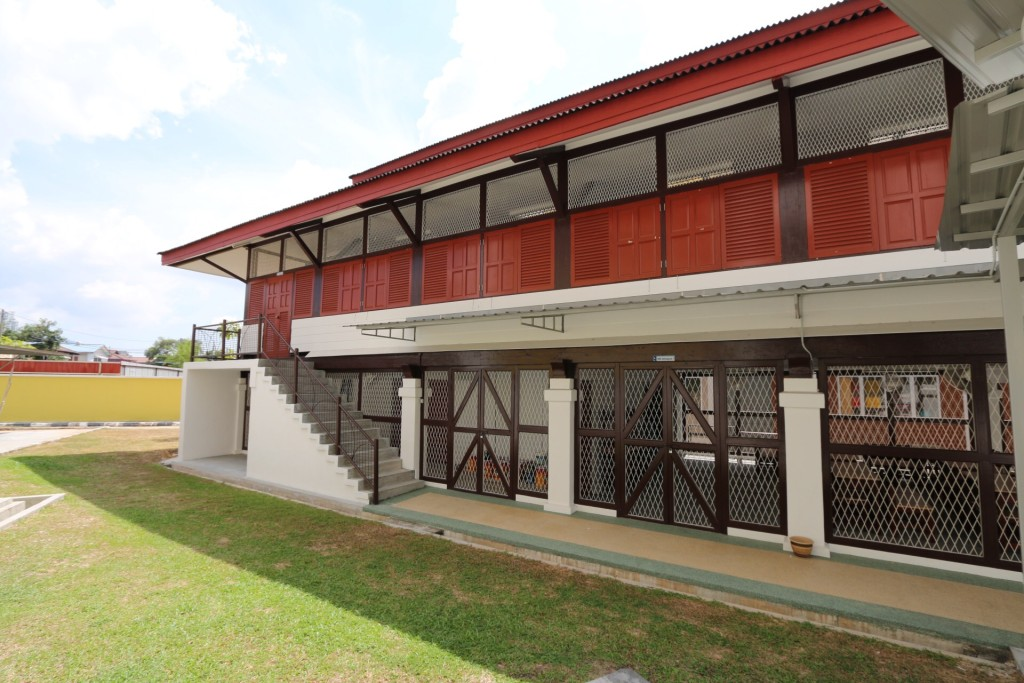 A picture taken of the first school building of Sekolah Kebangsaan Sungai Gelugor