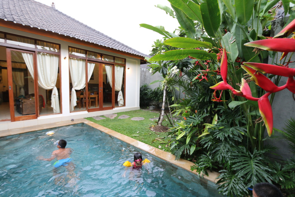 The villa we are staying in in Ubud, Bali