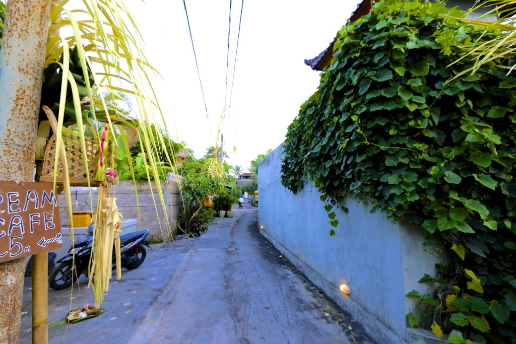 Be prepared to walk on the paddy field, slightly enhanced walkway to the villas