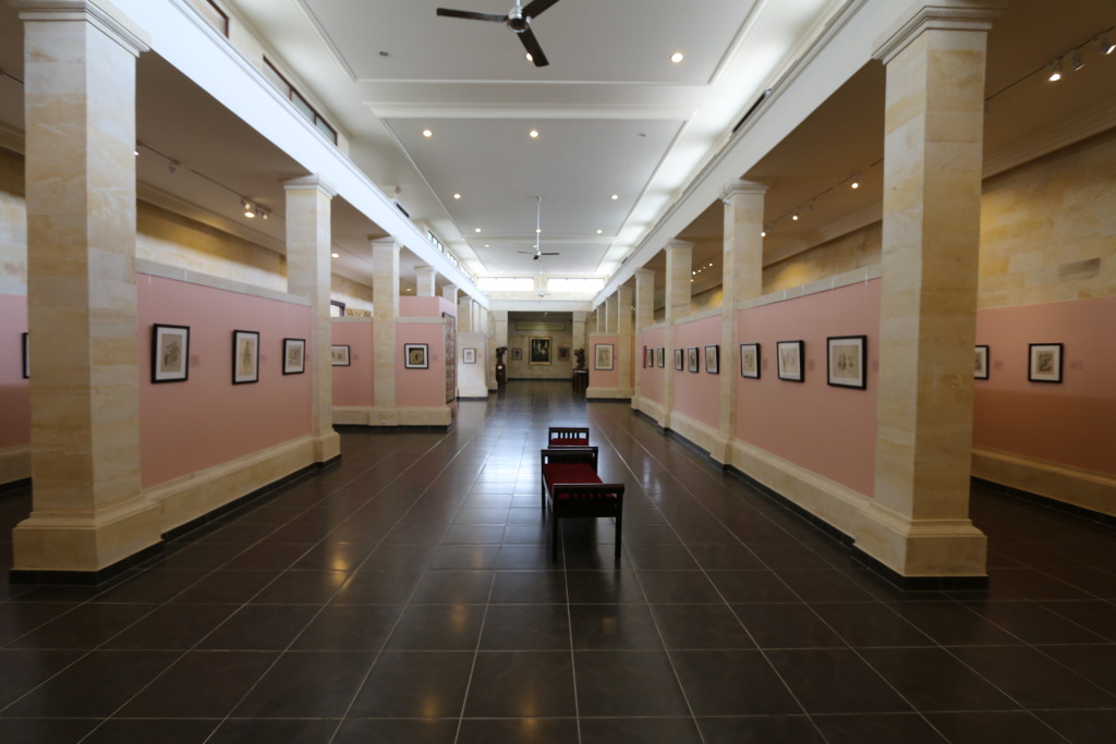 The first gallery, exhibiting Lempad's work
