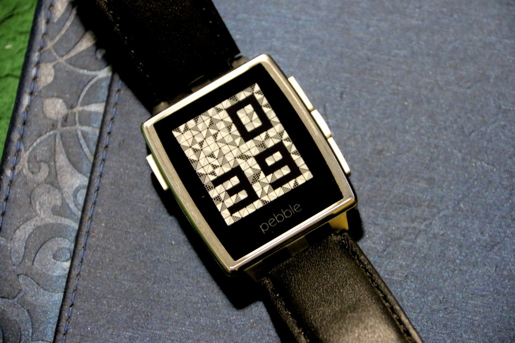 Pebble Watchface, which easily downloadable from the AppStore