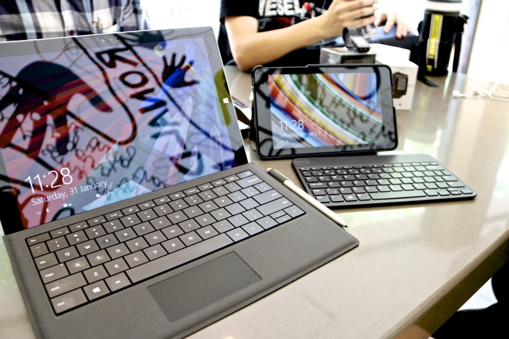 Surface Pro 3 and Dell Venue 3000