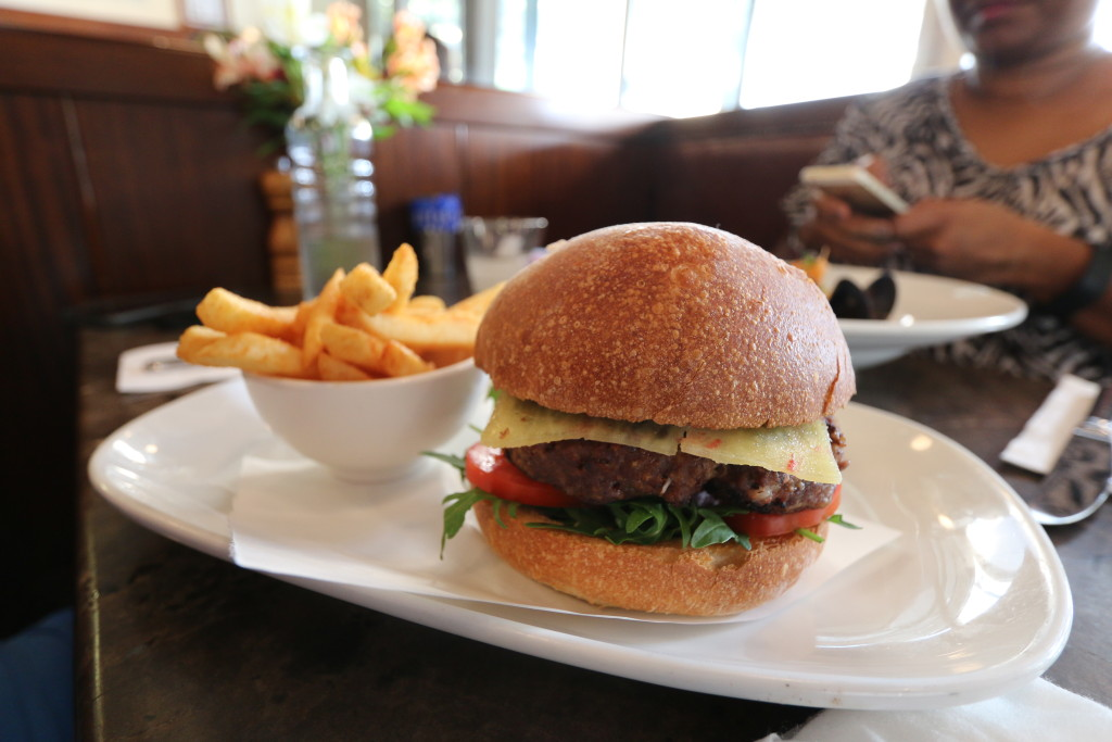 Burger, served with Kangaroo patty