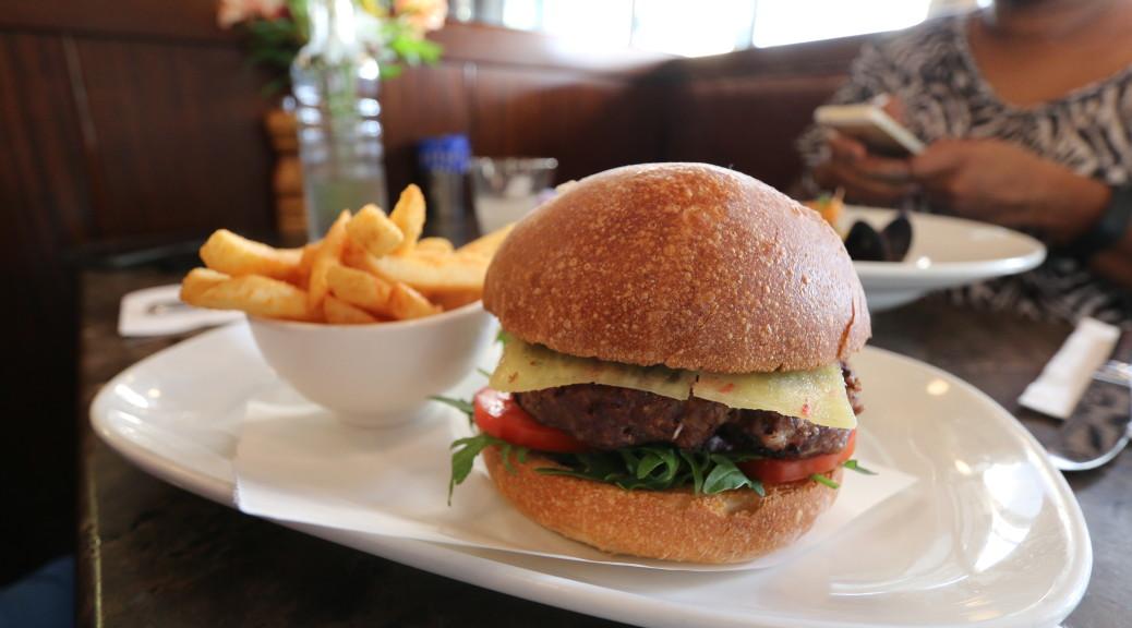Burger, served with Kangaroo patty