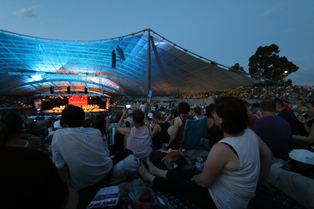 Towards the evening, the whole park filled with the classical music audience