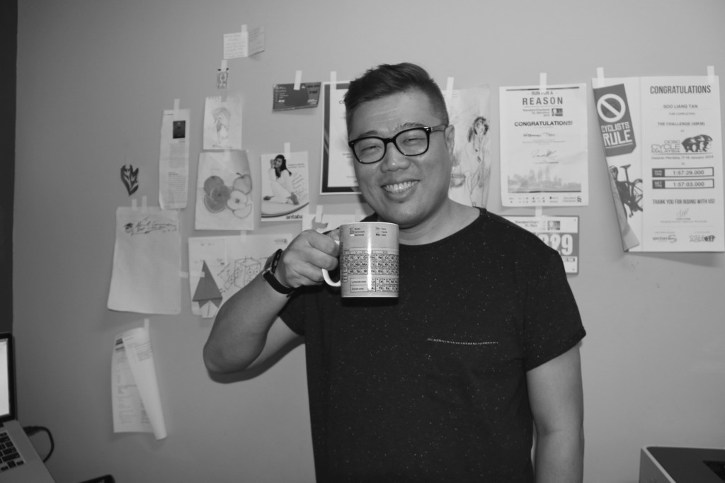 It's me, with a cuppa