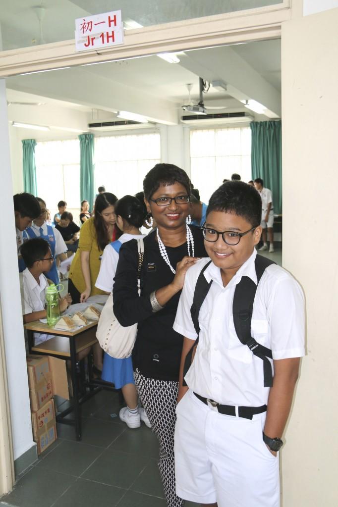 At Elijah's class