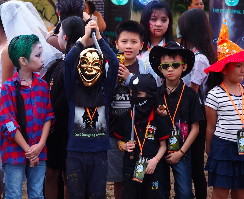 Children dressed up for the costume competition as they showcased their creativity.