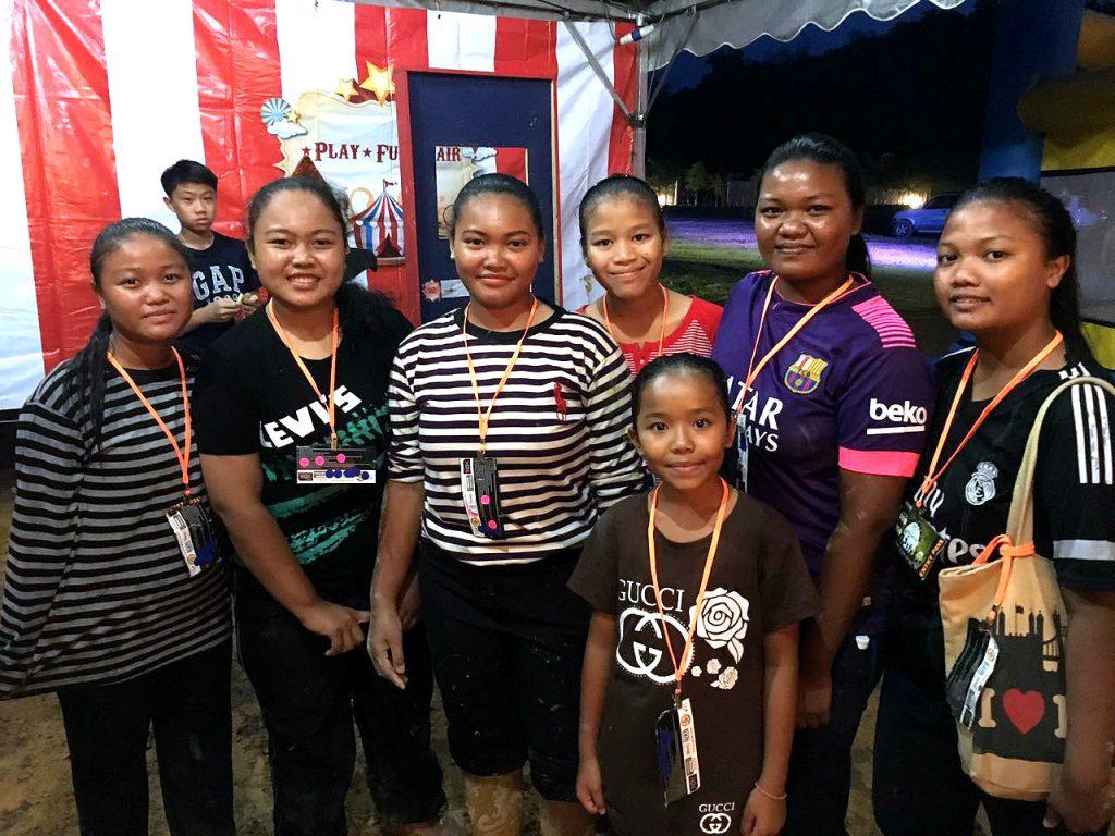 Children from Orang Asli Sungai Lebak settlement having a great time during the event.