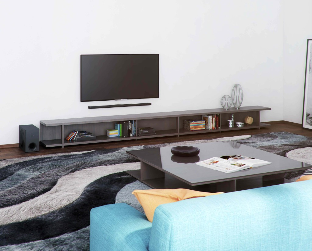 Look under the TV, Philips HTL7140B is so slim and sleek but it creates sound for larger than itself