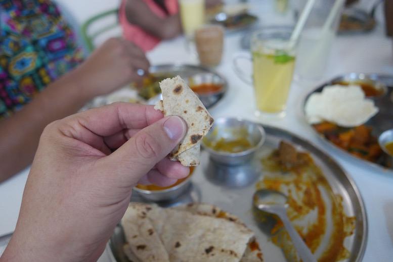 Close up of Ayurvedic Chapati