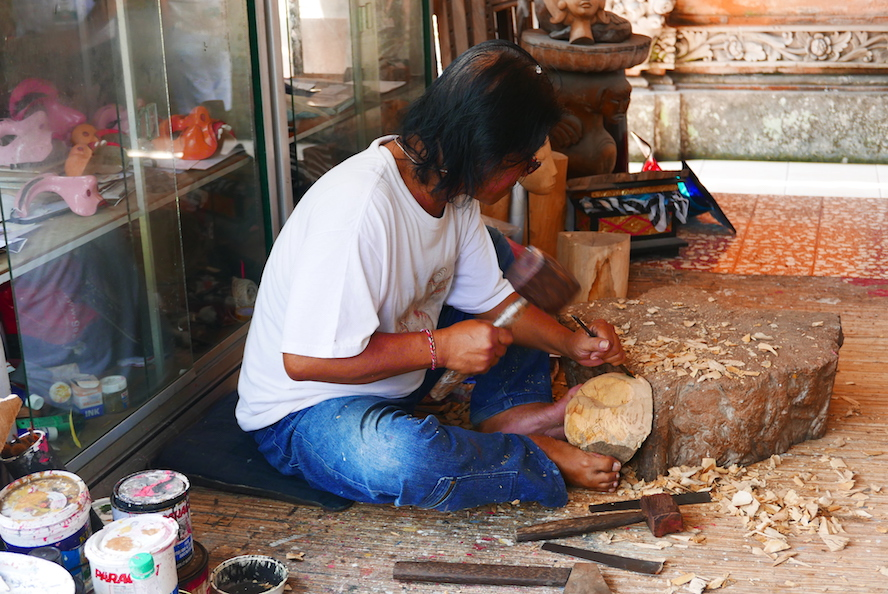 The mask maker at work