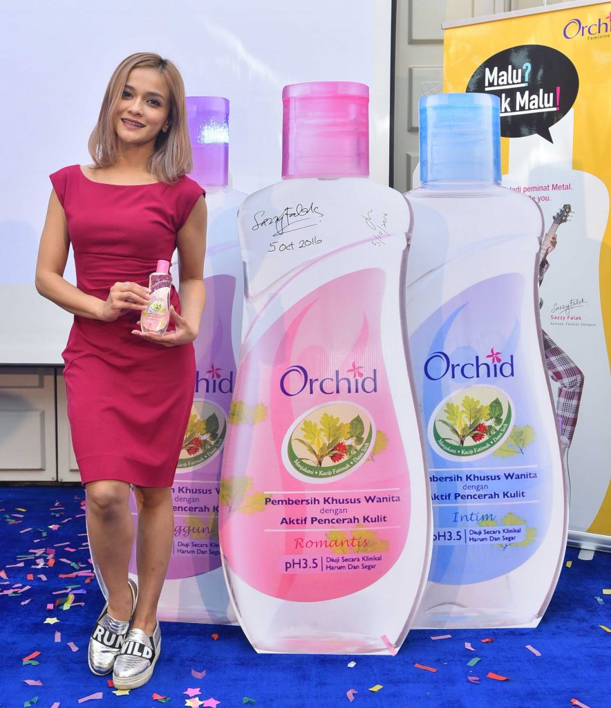 Orchid Feminine Wash introduces its first ever brand ambassador - Actress, TV host, fashion entrepreneur, wife and mother, Sazzy Falak