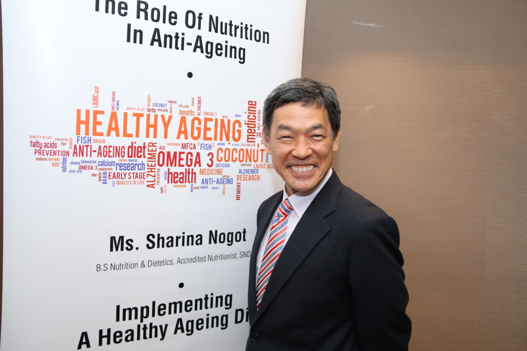 Professor Shirasawa at Can What You Eat Slow Down The Aging Process? media briefing