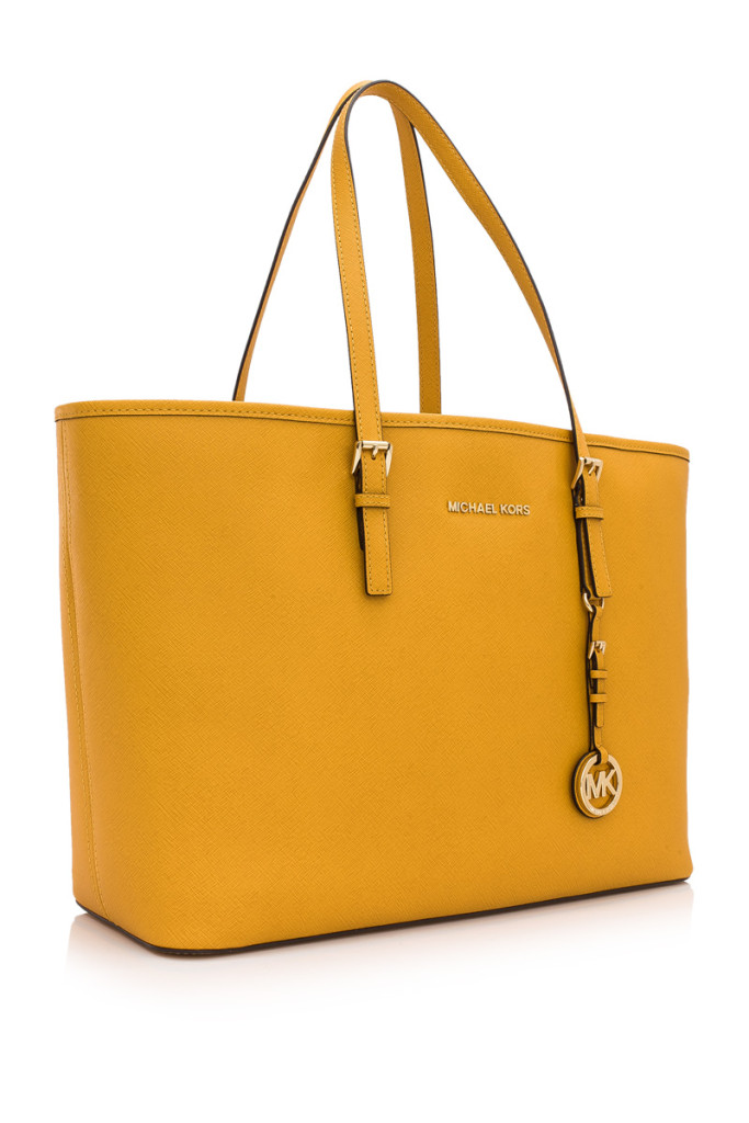 MICHAEL Michael Kors Jet Set Travel Medium Multifunctional Tote- Add some sunshine to your Hari Raya ensemble