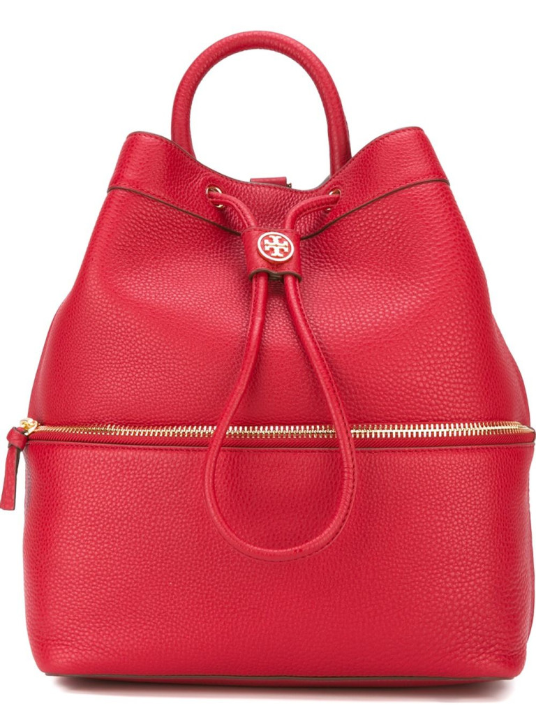 Wood also known as 'Tree' is represented by tall rectangular bags such as the Tory Burch Backpack