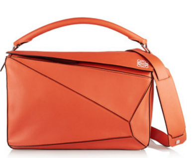 Fire elements can go for angular bags with sharp shapes such as triangles and diamonds or studded and quilted bags such as the Loewe Puzzle Bag