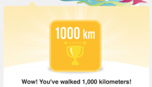 1,000km with FitBit